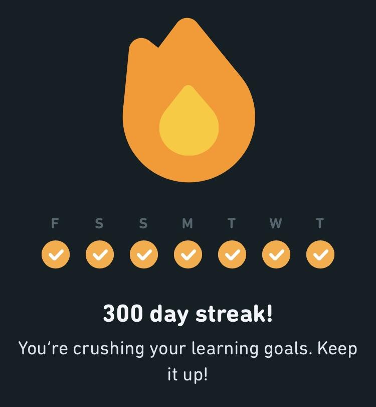 Duolingo 300 Day Streak